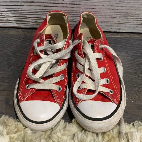 Converse Other - Converse Red Little Girls size 11
